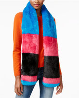 Betsey Johnson xox Trolls Faux-Fur Colorblocked Muffler, Only at Macy's