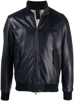 Orciani Leather Bomber Jacket