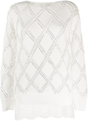 Ermanno Scervino Embellished Knit Jumper
