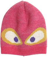 Fendi Monster Jacquard Knit Wool Hat