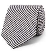 Drake's - 8cm Checked Silk Tie