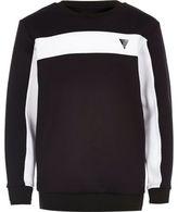 River Island Boys navy color block sweatshirt
