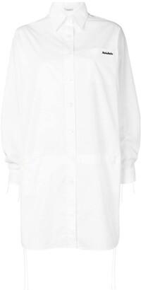 Miu Miu Logo Embroidered Shirt Dress