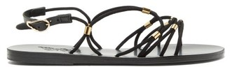 Ancient Greek Sandals Pasifai Suede Sandals - Black Gold