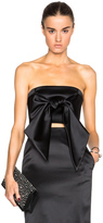 Sally Lapointe Bonded Satin Front Tie Bustier