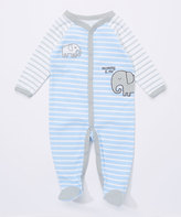 Buster Brown High Rise & Placid Blue 'Mommy and Me' Interlock Footie