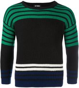 Raf Simons ribbed striped jumper - men - Virgin Wool - M