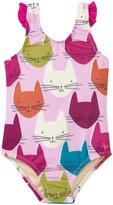 Pink Chicken Zoe Swim Suit (Baby) - Cat Print - 3-6 Months