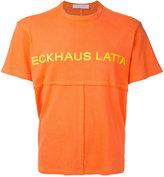 Eckhaus Latta - printed patchwork T-shirt - men - Cotton - M