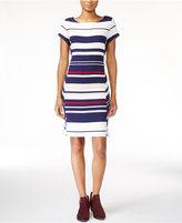 Maison Jules Striped Sheath Dress, Only at Macy's