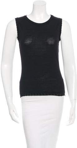 Versace Sleeveless Wool Top