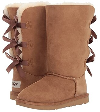 Ugg Kids Bailey Bow Tall II (Little Kid/Big Kid) (Chestnut) Girls Shoes