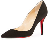 Christian Louboutin Apostrophy Suede 85mm Red Sole Pump, Black