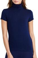 Lauren Ralph Lauren Petite Short Sleeve Turtleneck Jersey