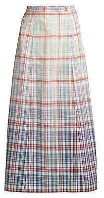 Polo Ralph Lauren Women's Nomi Plaid A-Line Midi Skirt
