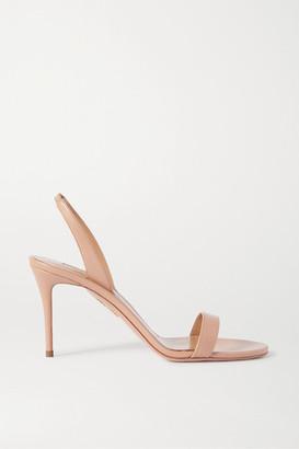 Aquazzura So Nude 85 Leather Slingback Sandals - Neutral