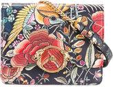 Roberto Cavalli enchanted garden flap bag - women - Cotton/Leather/metal - One Size