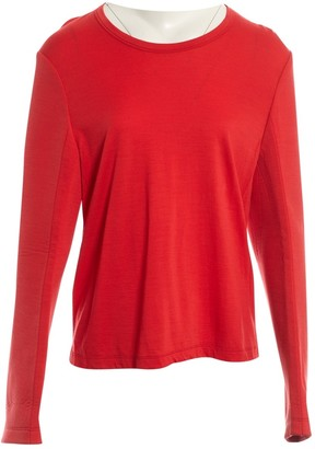 Maison Margiela Red Wool Top for Women Vintage