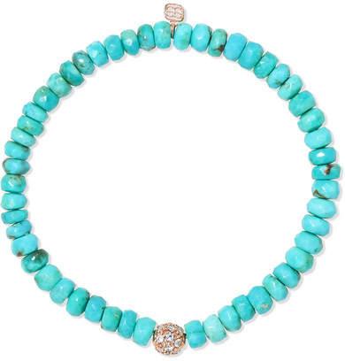Sydney Evan 14-karat Gold, Turquoise And Diamond Bracelet