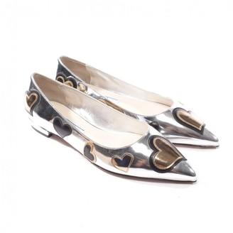 Prada Metallic Patent leather Ballet flats