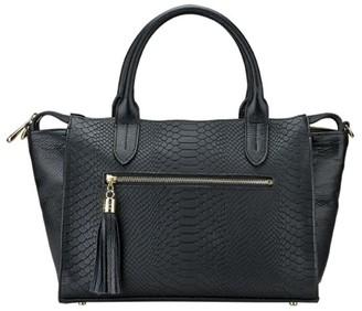 GiGi New York Grace Python-Embossed Leather Satchel