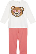 Moschino Teddy heart eyes cotton top and bottoms set 3-36 months