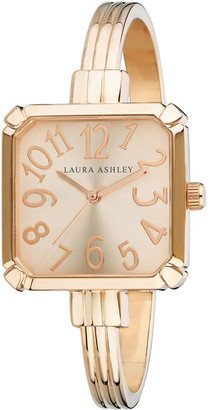 Laura Ashley Women's Watches - Rose Goldtone Square Cuff Watch