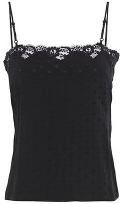 Sandro Gregoire Lace-trimmed Cady Camisole