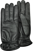 Pineider Men's Black Deerskin Leather Gloves w/ Cashmere Lining