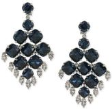 Carolee Multi-Stone Geometric Clip-On Drop Earrings