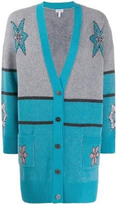 Loewe intarsia knit patterned cardigan