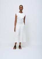 Zero Maria Cornejo white sleevesless zowie jumpsuit