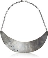 "Melissa Joy Manning Mixed Metals"" Gold Ball Detail and Hammered Collar Necklace, 18"""