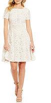 Jessica Howard Round Neck Short Sleeve Lace Dress