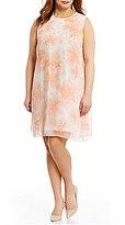 Calvin Klein Plus Floral Print Trapeze Dress