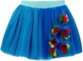 Hannah Banana Chiffon Flower Applique Tutu Skirt (Little Girls)