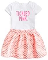 Kate Spade Infant Girls' Tickled Pink Glitter Tee & Dot Skirt Set - Sizes 6-24 Months