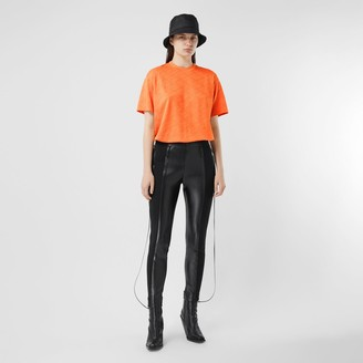 Burberry ogo Graphic Jersey Oversized T-shirt