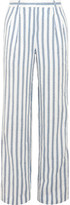 MICHAEL Michael Kors Shadow Striped Linen Wide-leg Pants - US16