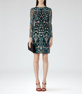 Reiss Alianna Embroidered Dress