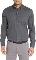 Peter Millar Regular Fit Melange Herringbone Sport Shirt