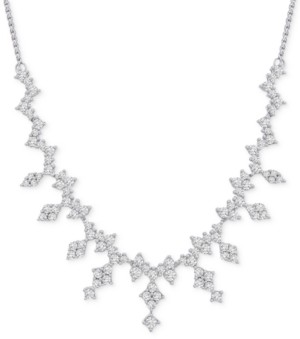 """Wrapped in Love Diamond Dangle 19"""" Statement Necklace (2-1/2 ct. t.w.) in 14k White Gold, Created for Macy's"""