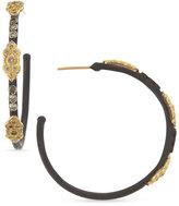 Armenta 18k & Midnight Diamond Scrolls Hoop Earrings