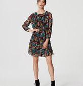 LOFT Petite Wildflower Babydoll Dress