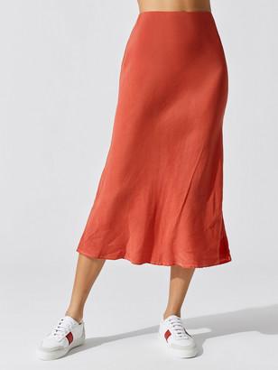 Stateside Cupro Bias Midi Skirt