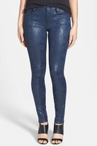 7 For All Mankind Snake Pattern Skinny Pants