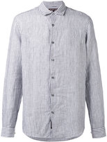Michael Kors striped shirt - men - Linen/Flax - M