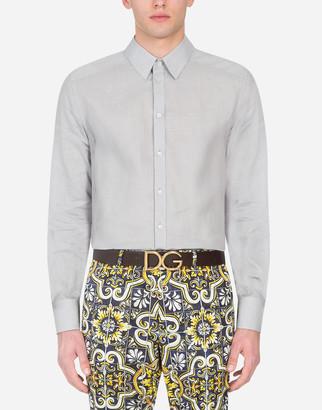 Dolce & Gabbana Gold Linen Shirt