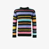The Elder Statesman Crazy stripe painted jumper