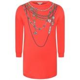 Little Marc Jacobs Little Marc JacobsGirls Red Necklace Print Dress